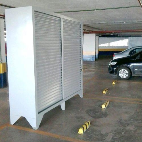 armário de aço para garagem do condomínio