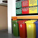 Coleta seletiva do lixo em condomínios.